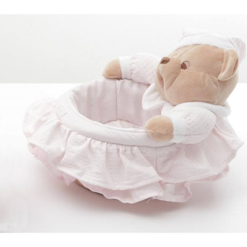 8a3031ba916 Καλάθι καλλυντικών αρκουδάκι NANAN ροζ 25cm για κορίτσι 12014-2 ...