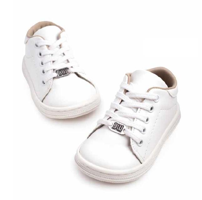 Παπούτσι αθλητικό λευκό BABYWALKER δερμάτινο 3030  de07ad644cb