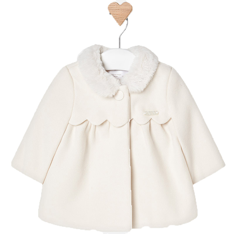 98094a97379 Παλτό με γιακά γουνάκι,εκρού,κορίτσι-MAYORAL 2440 | Έπιπλο παιδικό ...