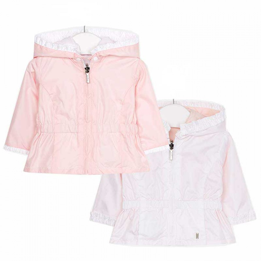 cb9486b7439 Αντιανεμικό μπουφάν διπλής όψης ροζ λευκό κορίτσι 29-01404-085 MAYORAL