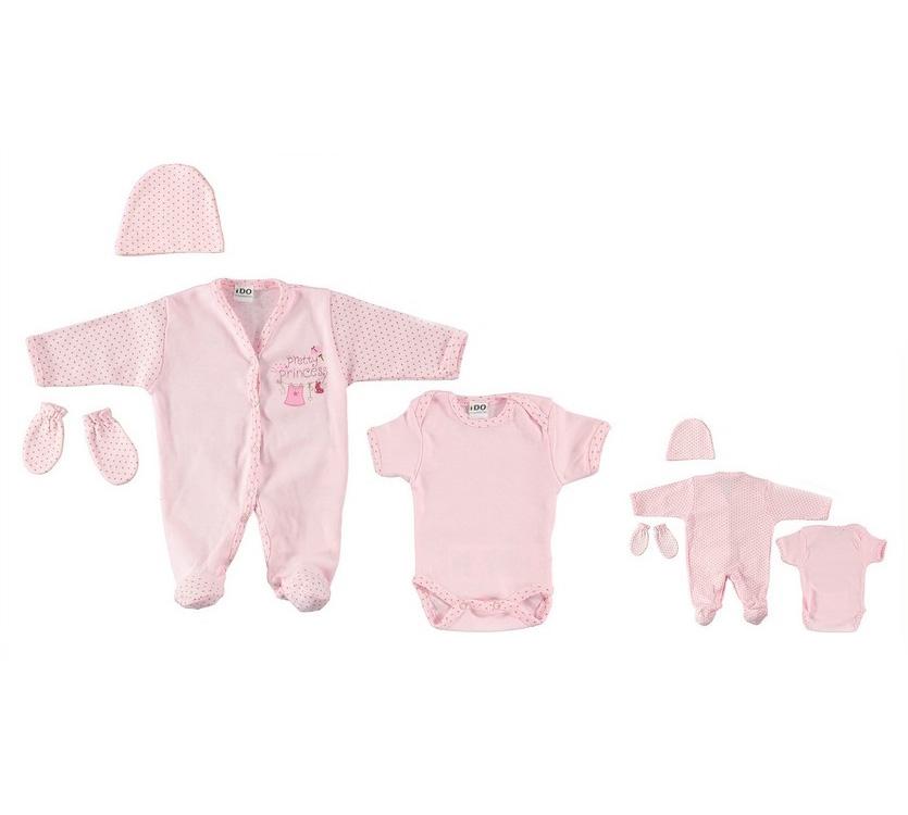 a8f46701e79 Σετ για νεογέννητο ροζ πουά κορίτσι 4U944 IDOmini | Έπιπλο παιδικό ...